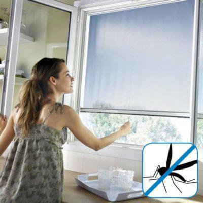 moustiquaire de porte en alu blanc protek 150 x h 220 cm