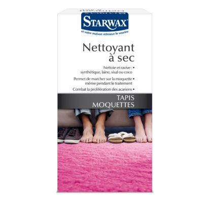 nettoyeur a sec tapis et moquettes starwax 500g