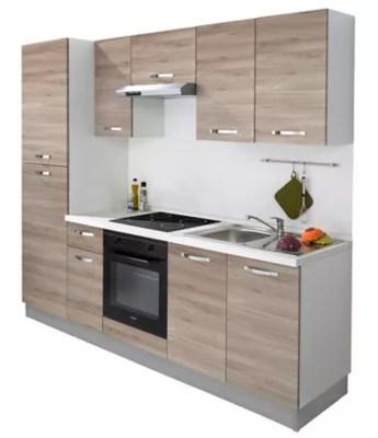 offrez vous une belle cuisine tout equipee avec cette cuisine complete dont l aspect imite le bois elle se compose de meubles de rangement d un plan