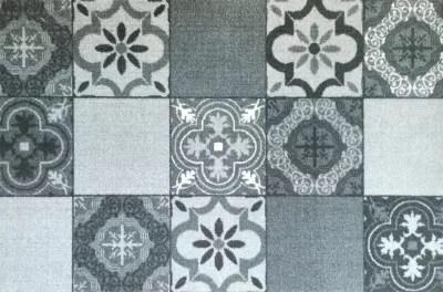 Paillasson Interieur Carreaux De Ciment Gris 50 X 75 Cm Castorama