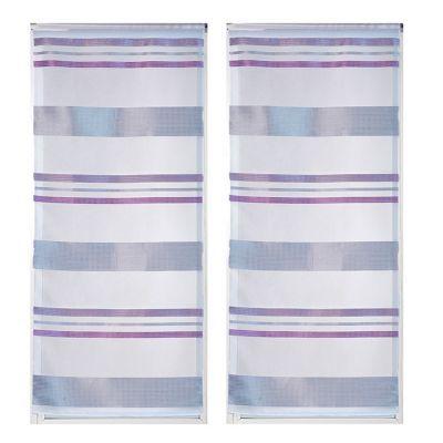 paire voilage l envol du decor picadilly violet 58 x 120 cm