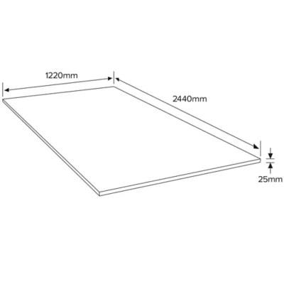 panneau medium mdf 244 x 122 cm ep 25 mm