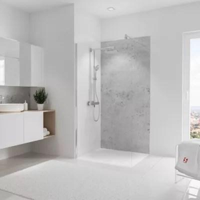 panneau mural salle de bains 100 x 210 cm schulte decodesign decor pierre gris clair