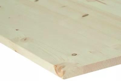panneau a placage colle bord carre avec noeud 40 x 200 cm ep 1 8 cm