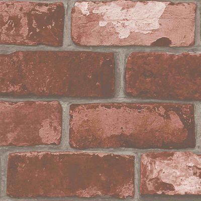 Papier Peint Intisse Sur Intisse Arcelot Brique Rouge Castorama