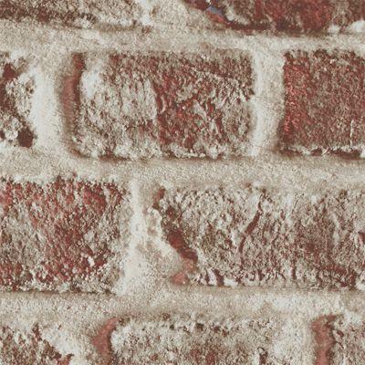 Papier Peint Sur Papier Brique Rouge Mat Castorama