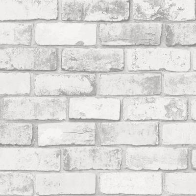 papier peint vinyle sur intisse colours arcelot brique blanc