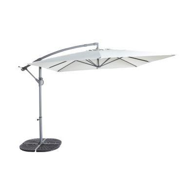 parasol deporte blooma syrna gris 300 x 250 cm
