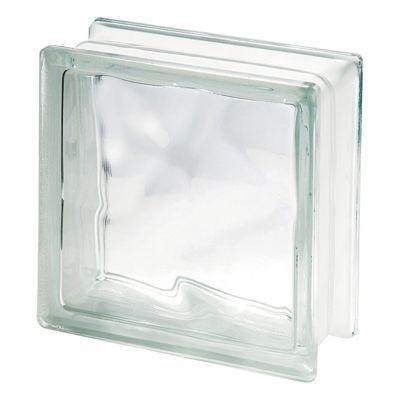 pave de verre nuage incolore 19 x 19 cm ep 80 mm