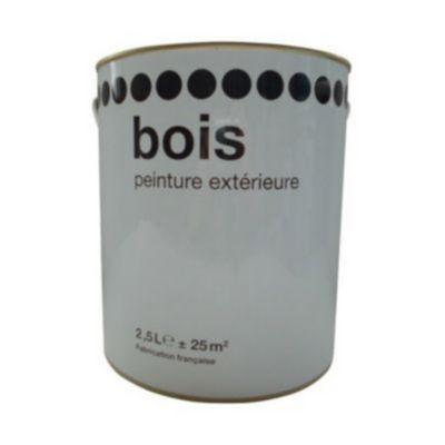 Peinture Bois Exterieur Blanc Satin 2 5l Castorama