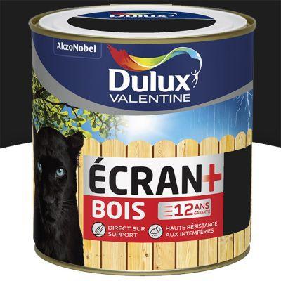 peinture bois exterieur dulux valentine ecran noir satin 0 5l
