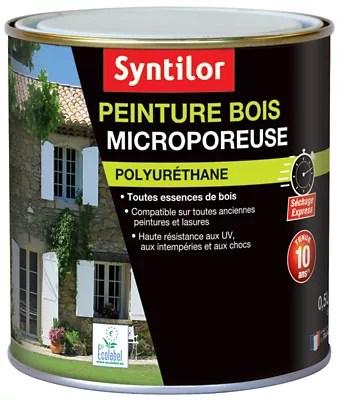peinture bois syntilor microporeuse noir 0 5l
