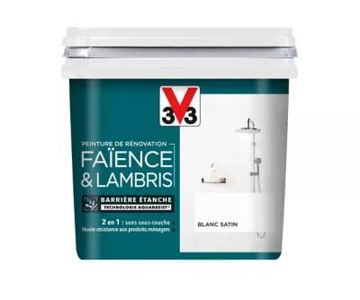 Peinture De Renovation Faience Et Lambris V33 Blanc Satin 750ml Castorama