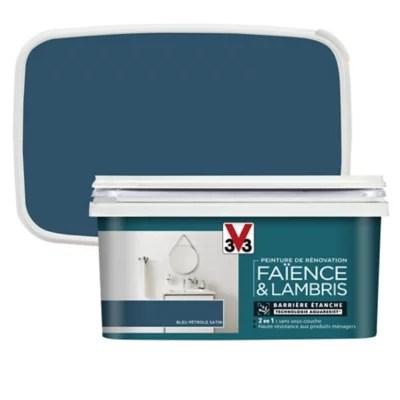 Peinture De Renovation Faience Et Lambris V33 Bleu Petrole Satin 2l Castorama