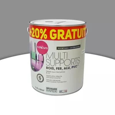 Peinture Exterieure Multi Supports Colours Anthracite 2l 20 Gratuit Castorama