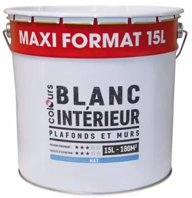 Peinture Interieure Plafonds Et Murs Colours Blanc Mat 15 L Castorama