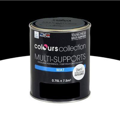 peinture multi supports noir mat 0 75l