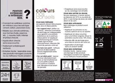 Peinture Sol Colours Premium Urbain Satin 5l Castorama