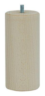pied de lit cylindrique h 150 mm x o70 mm brut
