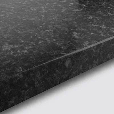 plan de travail en stratifie aspect granit noir goodhome kabsa 300 cm x 62 cm x ep 3 8 cm
