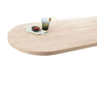 plan de travail snack bois hetre 180 x 63 cm ep 38 mm vendu a la piece