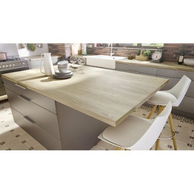plan de travail stratifie aspect bois decor chene quebec 205 x 65 cm ep 38 mm vendu a la piece