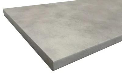 Plan De Travail Stratifie Aspect Ciment Coloris Gris Cooperfield 280 X 62 Cm Ep 38 Mm Vendu A La Piece Castorama