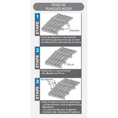 plaque acier bac acier eco grise 200 x 100 cm vendue a la plaque