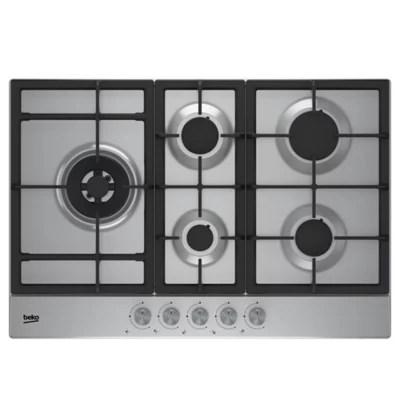 plaque de cuisson au gaz beko hqaw 75225 sx 5 foyers