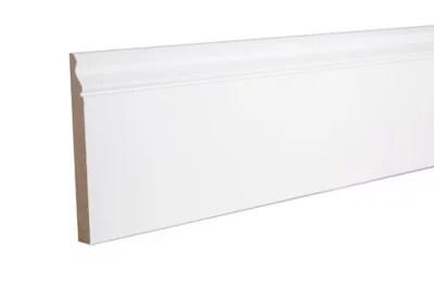 Plinthe Mdf Ogee Prepeint Blanc 240 X 16 9 Cm Ep 18 Mm Castorama