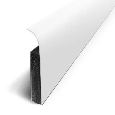 Plinthe Sol Souple Pvc Decor Blanc Mat 7x120 Cm Castorama