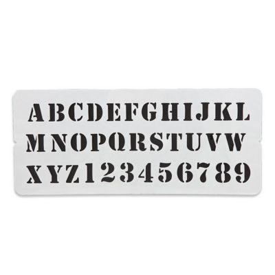 Pochoir Imprimerie Colours Alphabet Castorama
