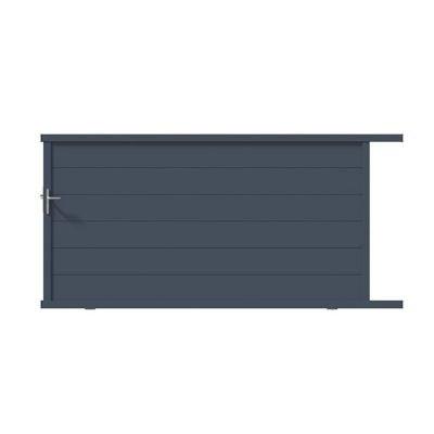 Portail Coulissant Aluminium Chalon Gris 7016 Sable 300 X H 160 Cm Castorama