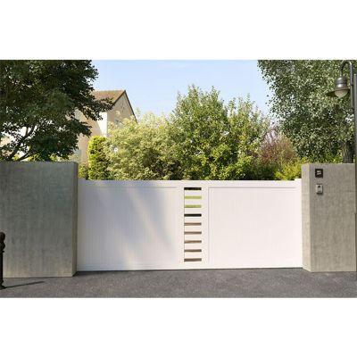 Portail Coulissant Pvc Cassis Blanc 350 X H 150 Cm Castorama
