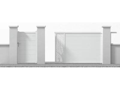 portail en alu coulissant motorise frejus blanc 350 cm