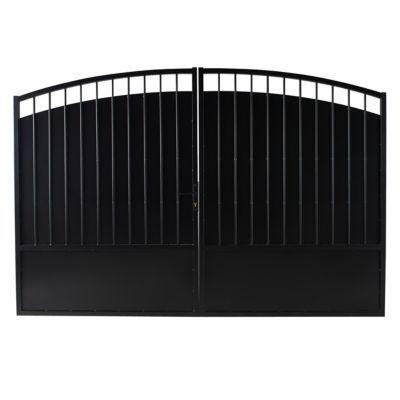 Portail Fer Blooma Oria Noir 350 X H 181 Cm Castorama