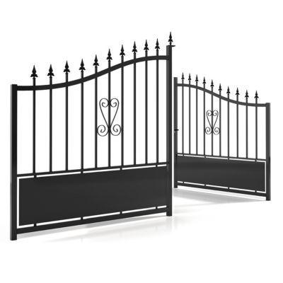 Portail Et Portillon Systeme D Ouverture Battant Et Coulissant Castorama Fr