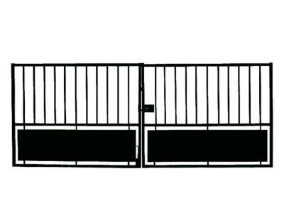 Portail Fer Horizon Noir 300 X H 120 Cm Castorama