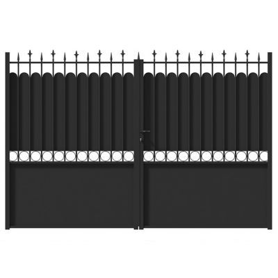 Portail Fer Ronchaux Noir 300 X H 185 Cm Castorama
