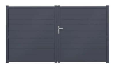Portail Jardimat Aluminium Perth Gris Anthracite 350 X H 170 Cm Castorama
