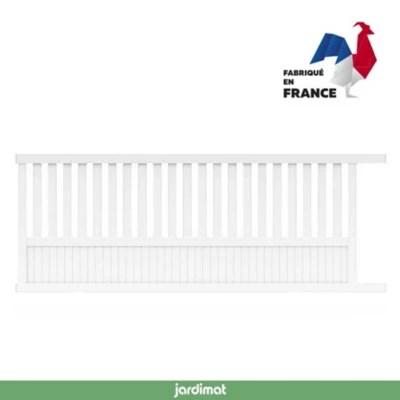 Portail Jardimat Coulissant Aluminium Garonne Blanc 9016 400 X H 140 Cm Castorama