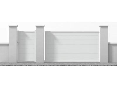 Portail Jardimat Coulissant Aluminium Lyon Blanc 350 X H 170 Cm Castorama