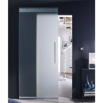 porte coulissante verre geom timo h 220 x l 105 cm