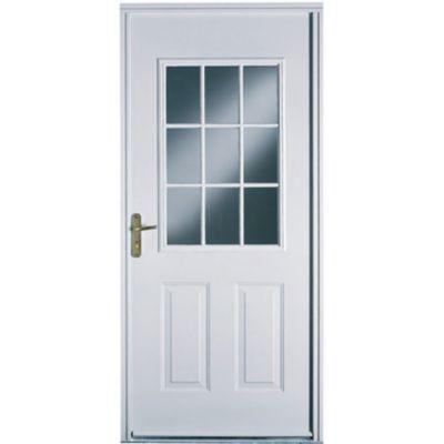 porte d entree acier geom eleni 90 x h 215 cm poussant droit