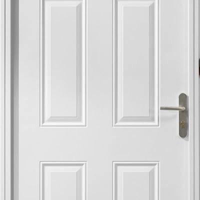 porte d entree acier meridiane blanche poussant droit