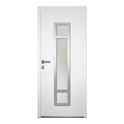 porte d entree aluminium 4 alu paco blanc 90 x 215 cm poussant droit