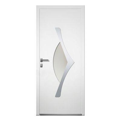 porte d entree aluminium 4 alu thor blanc 80 x h 215 cm poussant droit