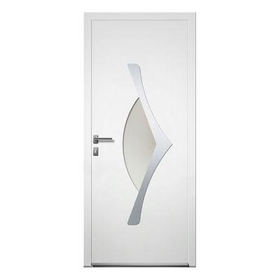 porte d entree aluminium 4 alu thor blanc 90 x h 215 cm poussant droit