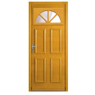 porte d entree bois exotique buisson 90 x h 215 cm poussant droit