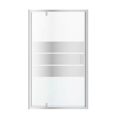 porte de douche pivotante goodhome beloya miroir 120 cm